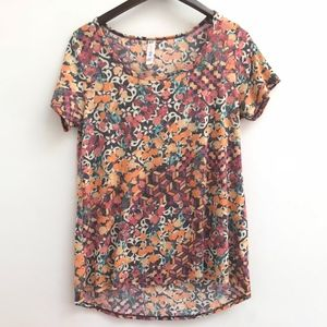 Floral LuLaRoe Perfect tee size S